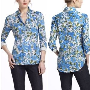 Anthro HD in Paris Hanalei Floral Button Down sz 2